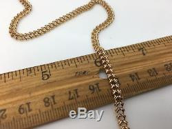 14k Yellow Gold Solid Pocket Watch Chain 20.1 Grams