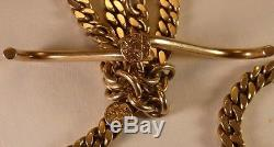14K Yellow Gold Pocket Watch chain (order of the Eastern Star)