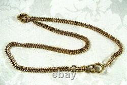 14k Gold 16 Curb Cuban Pocket Watch Chain 19.2gr 4mm Wide 2.2mm Thick Vintage