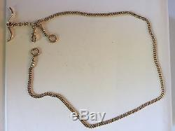 14k Solid Rose gold Antique Watch Chain