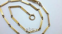 14k Yellow Gold Pocket Watch Fob Chain 8.6 Grams. 13.5