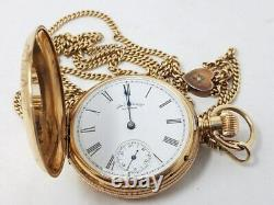 14kt. Gold American Watch Co. Waltham 6s Pocket Watch with 30.43g 14kt. Chain