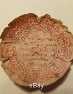 1790 Era Chain Driven Pocket Watch Papers