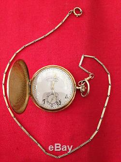 18 k Chronometre pocket watch HIGH LIFE with 18 k chain