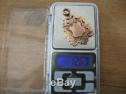 1894 9ct GOLD Double Albert POCKET WATCH CHAIN 17 and FOB by John Grinsel