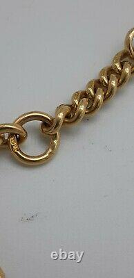 18ct Victorian Solid Yellow Gold Albert Fob Watch Chain