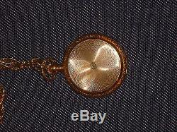 1900 ANTIQUE 14K Gold ELGIN WATCH Pocketwatch WITH CHAIN NECKLACE ENGRAVED RARE