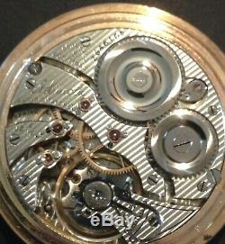 1914 Illinois Fancy High Grade A. Lincoln Railroad 21 Jewel Pocket Watch WithChain