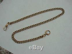 #23 Antique Solid 15k Pink Gold Pocket Watch Chain 51.2 Grams Invest In Gold