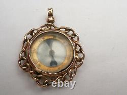 9ct Solid Gold Victorian Pocket Watch Chain Compass Fob Pendant 5.7 Grams