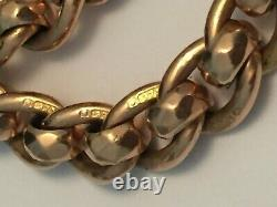 9ct gold albert watch chain rollerball links rose gold fully stamped 40g 18