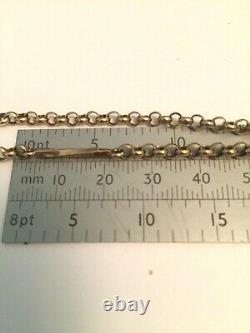 9ct gold albert watch chain t bar fancy fetter links 20 inches 14g boxed