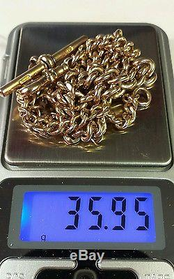 9k solid gold pocket watch chain