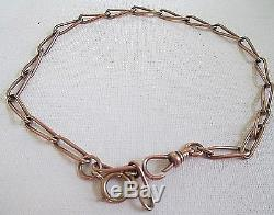 Antique 14k Rose Gold Heavy Link Pocket Watch 13 Chain 18+ Grams