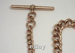 Antique Pocket Watch Chain 9ct Rose Gold 12.5 Albert Grinsell Son 41.8 Grams