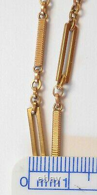 Antique 10K Yellow Gold Pocket Watch Chain 3 Different Links 13