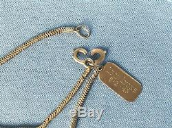 Antique 14 K Yellow Gold Necklace Watch Fob Chain 23.4grams Leon Lyons Pendant