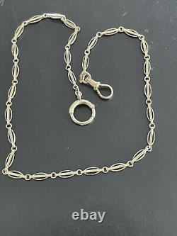 Antique 14 Kt Yellow Gold Pocket Watch Chain. 13.5 Inches
