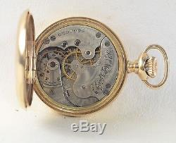 Antique 14K Solid Gold Elgin Pocket Watch with Diamonds, Comes with 14K Gold Chain