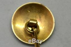 Antique 14K Solid Yellow Gold Pocket Watch Chain 9.5 Long