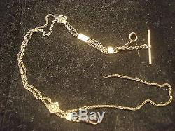 Antique 14k Tri-Gold Pocket Watch Chain, 19.2g