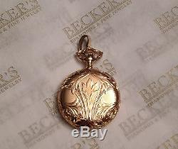 Antique 14k Waltham Pocketwatch Ser 16409020 15 jwls Fancy Case & Bale for chain