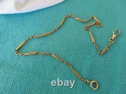 Antique 14k Yellow Gold 14 1/2 Pocket Watch Chain Bars & Links 2.5 MM Wide