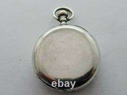 Antique 1881 London Small Solid Silver Pocket Watch + Chain Working VGC Rare