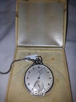 Antique 1938 Omega Pocket Watch with Chain and Original Box