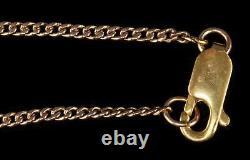 Antique 50 14kt Yellow Gold Curb Link Chain Pocket Watch Style 11.93 Grams