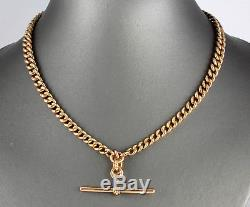 Antique 9Ct Gold Graduated Double Albert Watch Chain / Necklace c 1915 54.3grams