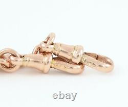 Antique 9Ct Rose Gold Graduated Double Albert Watch Chain 45.6grams