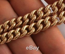 Antique 9Ct Rose Gold Graduated Double Albert Watch Chain 63.2g, Chester, 16inch