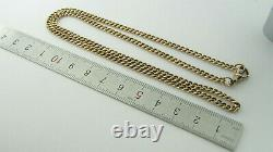 Antique 9ct Rose Gold Pocket Watch Chain Necklace 17.3 Grammes