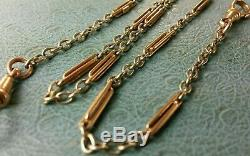 Antique 9ct Rose Gold & White Gold Fancy link Pocket Watch Chain