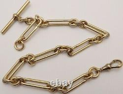Antique 9ct rose gold albert 12.25 inch pocket watch guard chain Weighs 42.2 gms
