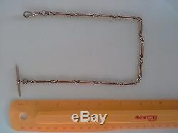 Antique 9k fancy solid rose gold pocket watch chain