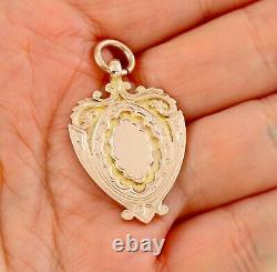 Antique Art Deco 9Ct Rose Gold Fob / Pendant / Medal For Watch Chain / Necklace