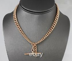 Antique Edwardian 9Ct Gold Graduated Double Albert Watch Chain By Cropp & Farr
