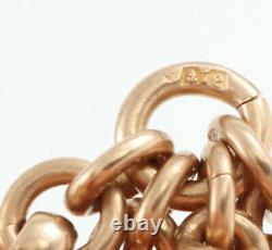 Antique Edwardian 9Ct Rose Gold Double Albert Watch Chain 16 1/2 Inches