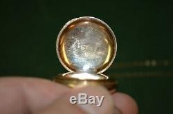 Antique Elgin 15 Jewel Pocket Watch 11338392 Circa 1905 Working with Fob Chain
