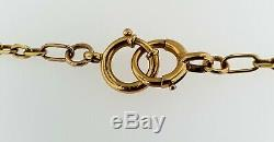Antique Fancy Links Pocket Watch Chain 18K Rose Gold14 5/8 long+13.4 gramsWOW