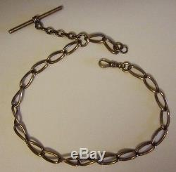 Antique Gold Watch Chain Gold Pocket Watch Chain Big Links 14 1/2 Long Tests10K