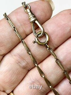 Antique Pocket Watch Chain, 17 Necklace. Victorian Chain, Rolled Gold Jewelry