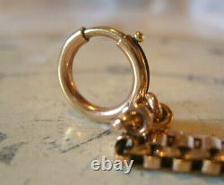 Antique Pocket Watch Chain 1890s Victorian French 10ct Rose Gold Filled Albert