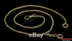 Antique Solid 14K Gold Double Albert 19 Pocket Watch Rope Chain 12.1g S1X