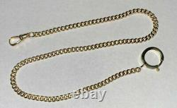 Antique Solid 14K Gold Victorian 14 Pocket Watch Chain 16.4 Grams SHIPS FREE
