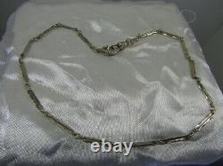 Antique Solid 14K White Gold Chain Pocket Watch/Knife