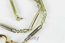 Antique Solid 14k White Yellow Rose Gold 8 Pocket Watch Chain #6846