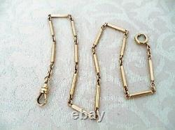 Antique Victorian 10K Yellow Gold Link Pocket Watch Chain 7.6 Grams 13 1/4 Long